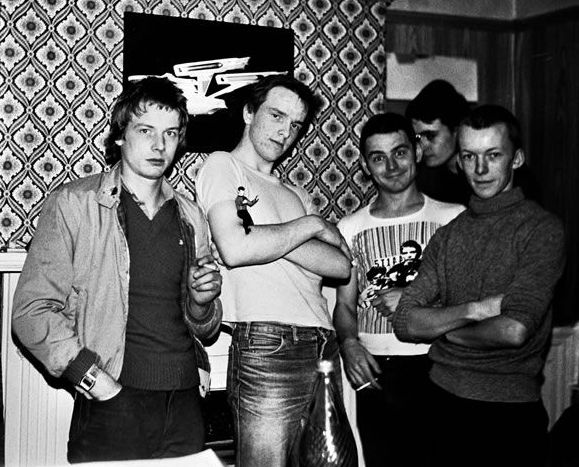At Kev's house - Lyndhurst Rd, Burnley - one of the few pics of the whole band