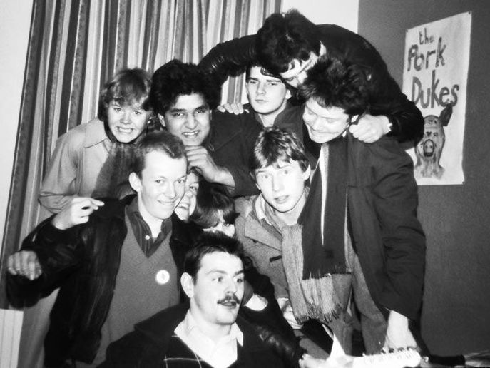 Sage's bedroom, Manchester Rd. Inger; Sage; Khany; Gilly; Lady B; Gaz; Dan; Pete Rawlinson; Geoff Smithson; Boff.